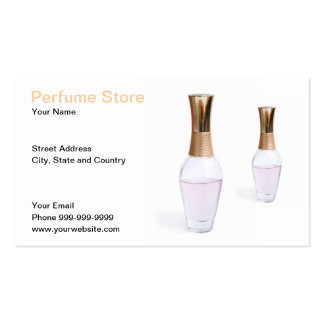 perfume store pack of standard business cards