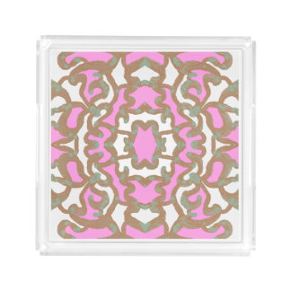 Perfume Tray for Women-Pink/White/Teal/Brown