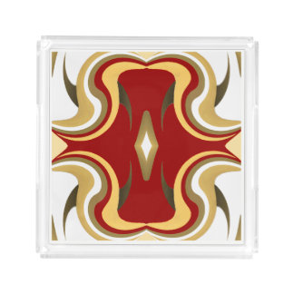 Perfume Tray-White/Gold/Red/Green/Peach/Tan Acrylic Tray