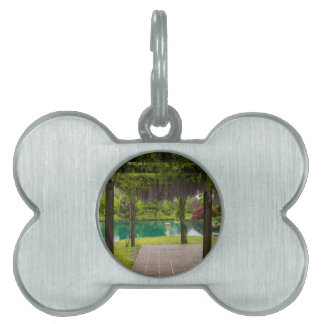 Pergola Of Wisteria Pet Name Tag