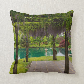 Pergola Of Wisteria Throw Pillow