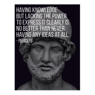 Pericles 'Knowledge' Quote Postcard