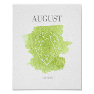 Peridot Birthstone August Poster