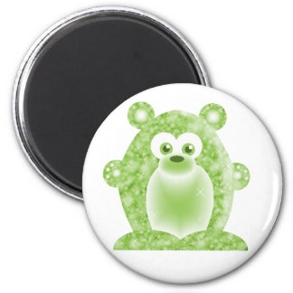 Peridot Birthstone Bear Magnet