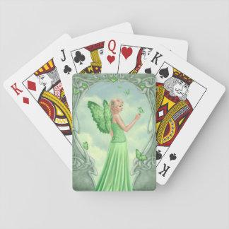 Peridot Birthstone Fairy Classic Playing Cards
