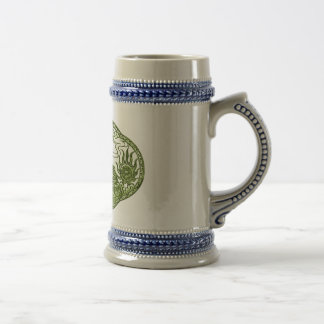 Peridot Green Dragon Medallion Beer Stein