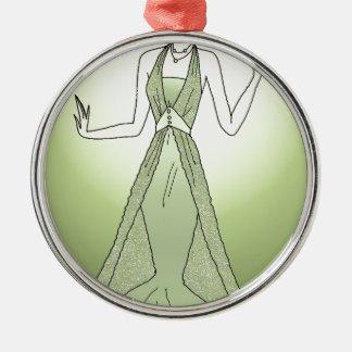 Peridot Princess Metal Ornament