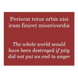 Perierat totus orbis nisi postcard