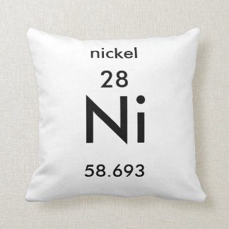 Periodic Table 28 Nickel Pillow