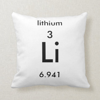 Periodic Table 3 Lithium Pillow