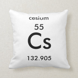 Periodic Table 55 Cesium Pillow