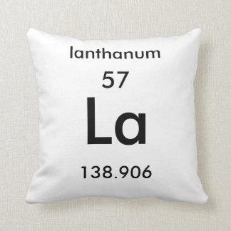 Periodic Table 57 Lanthanum Pillow