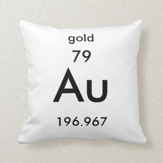 Periodic Table 79 Gold Pillow