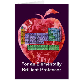 Periodic Table Apple Greeting Card