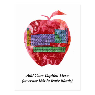 Periodic Table Apple with Customizable Text Postcard