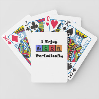 Periodic Table Bacon Science Chemistry Funny Bicycle Playing Cards