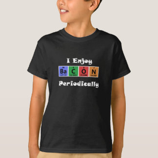 Periodic Table Bacon Science Chemistry Funny Tee Shirts