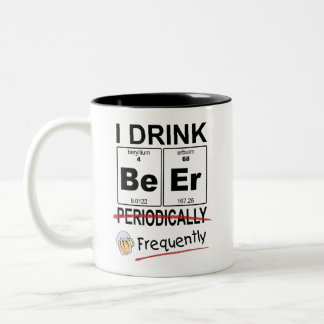 Periodic Table Beer Drinking Coffee Mug