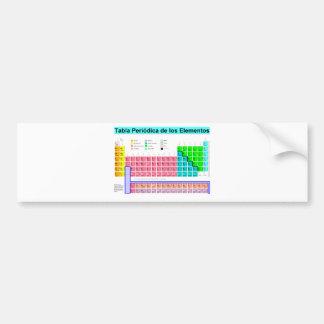 Periodic table bumper sticker