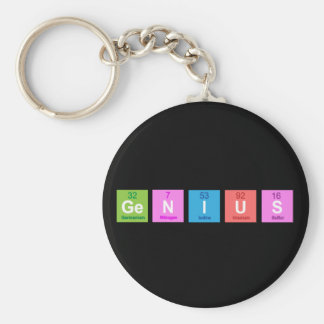 Periodic table chemistry fun basic round button keychain