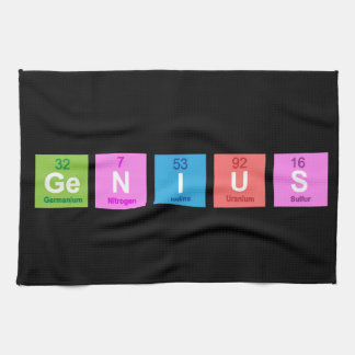 Periodic table chemistry fun kitchen towel