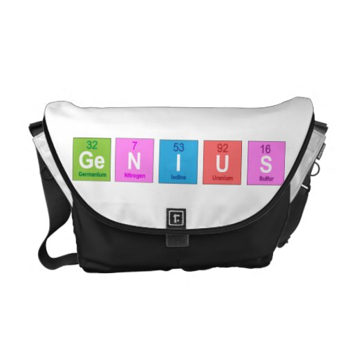 Periodic table chemistry fun courier bag