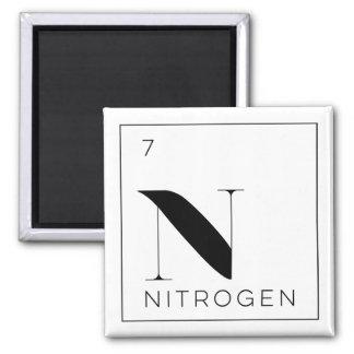 Periodic Table Elements Button // Nitrogen Square Magnet