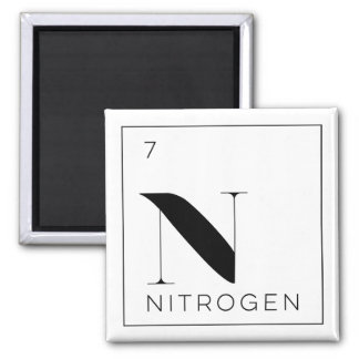 Periodic Table Elements Button // Nitrogen Square Magnet