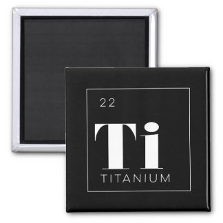 Periodic Table Elements Button // Titanium Fridge Magnets
