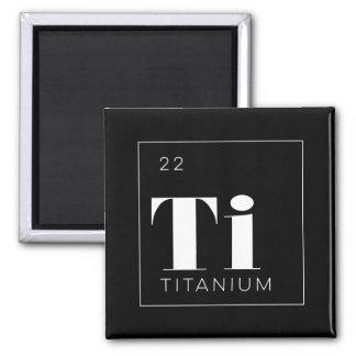 Periodic Table Elements Button // Titanium Square Magnet