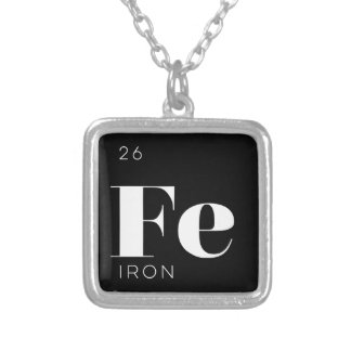 Periodic Table Elements Necklace // Iron