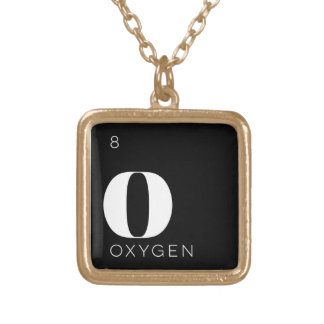 Periodic Table Elements Necklace // Oxygen