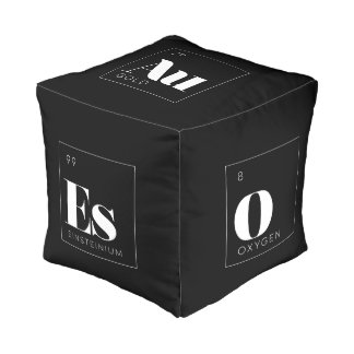 Periodic Table Elements Pouf