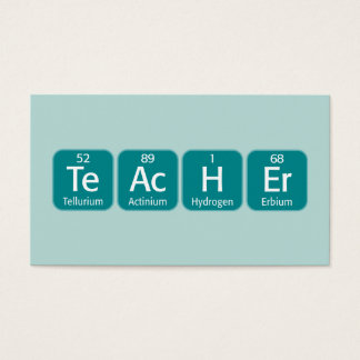 Periodic Table Elements Spelling Teacher Business Card