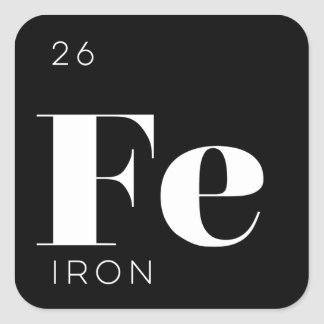 Periodic Table Elements Sticker // Iron