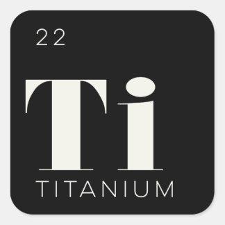 Periodic Table Elements Sticker // Titanium