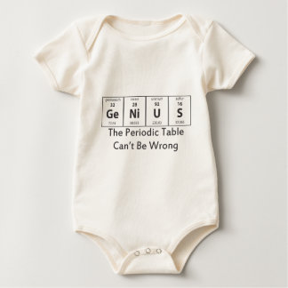 Periodic Table - Genius Baby Bodysuit