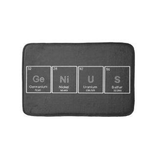 Periodic table GeNiUS bath rug
