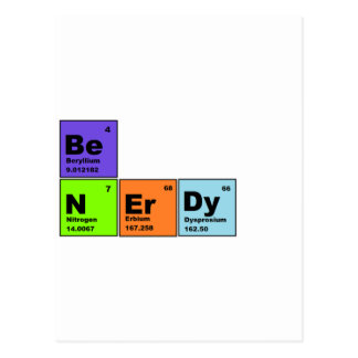 Periodic Table Nerdy Products Postcard