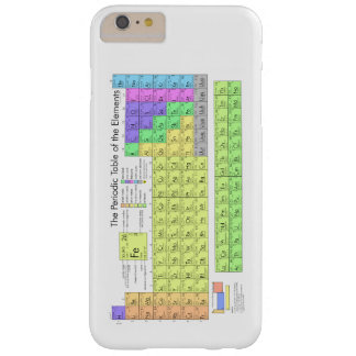 Periodic Table of Elements Barely There iPhone 6 Plus Case