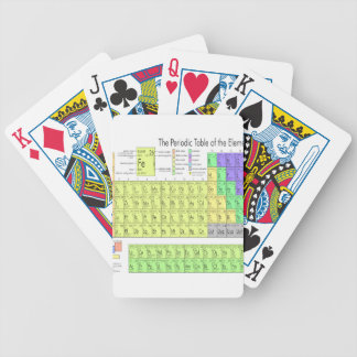 Periodic table of elements bicycle playing cards