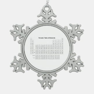 Periodic Table of Elements Chemistry Chart Science Pewter Snowflake Ornament