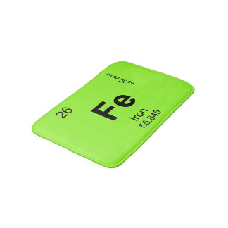 Periodic Table of Elements (Iron) Bath Mat