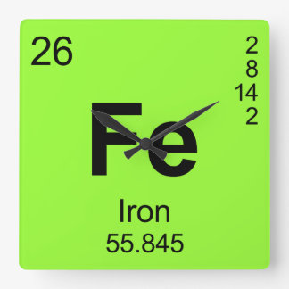 Periodic Table of Elements (Iron) Clock