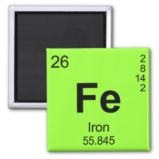 Periodic Table of Elements (Iron) Magnet