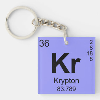 Periodic Table of Elements (Krypton) Keychain