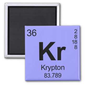 Periodic Table of Elements (Krypton) Magnet