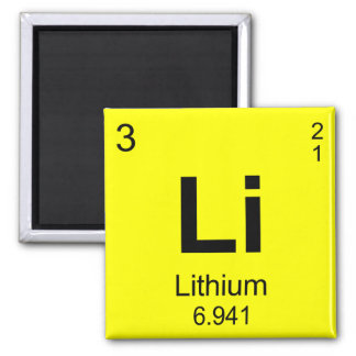 Periodic Table of Elements (Lithium) Refrigerator Magnets