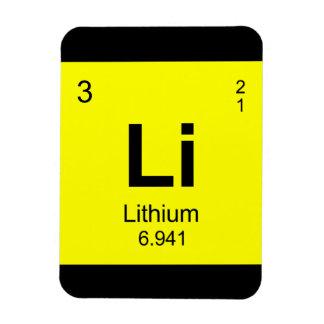 Periodic Table of Elements (Lithium) Rectangular Photo Magnet