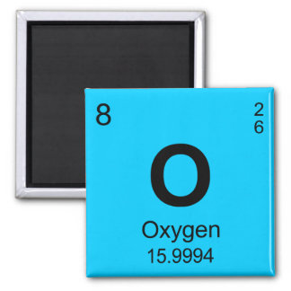 Periodic Table of Elements (Oxygen) Refrigerator Magnet
